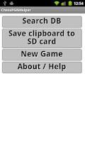 Screenshot of Chess PGN Helper