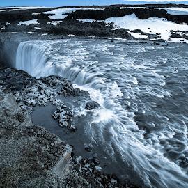 Dettifoss waterfall by Daniel Herrero García - Landscapes Waterscapes ( water, iceland, bluish, waterfall, landscape,  )