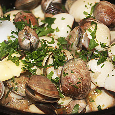 Baby Clams Cooked With Kingfisher Beer and Chillies