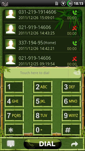 GOContacts theme BAMBOO