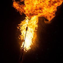 fire goddess by Gabriel Lungu - People Musicians & Entertainers
