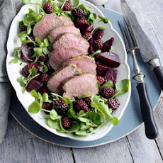 Venison With Beetroot, Blackberries & Port