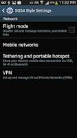 Screenshot of Galaxy S4 Style Settings