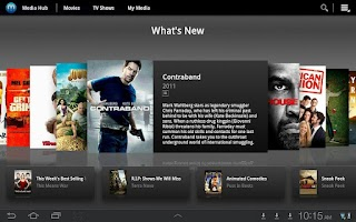 Screenshot of Media Hub-Samsung TAB (Sprint)