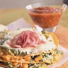 Sweet Potato Chilaquiles with Griddled Salsa Roja