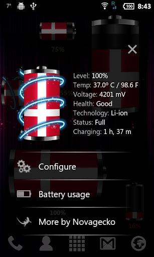 【免費個人化App】丹麥 - 旗電池部件-APP點子