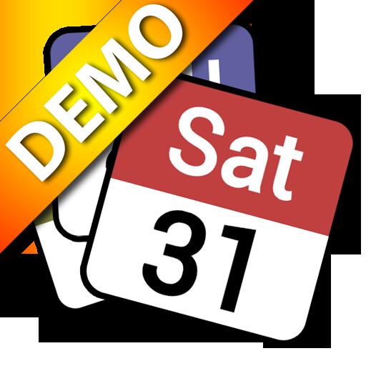 Status bar Calendar Demo 工具 App LOGO-APP試玩