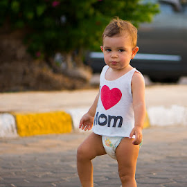 I LOVE MOM by Zyad Al-Kadiki - Babies & Children Children Candids