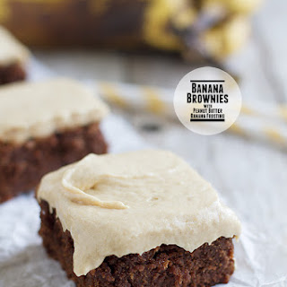 Peanut Butter Banana Brownies Recipes