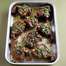 Lamb Chops With Coriander Pesto