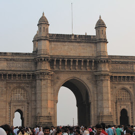 Welcoming gate! by Srivenkata Subramanian - Buildings & Architecture Public & Historical ( mumbai, gateway of india, freedom, india, historical,  )