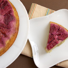 Plum Upside-Down Pudding Cake