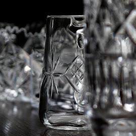 Cut Glass by Martin Davis - Artistic Objects Glass ( glass, jug, light )