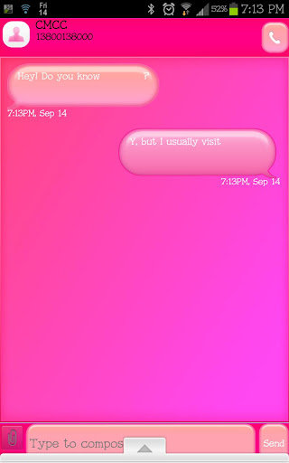 GO SMS - Bubble Gum SMS