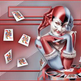Joker by Angelica Glen - Digital Art People ( joker, queen, play, cards, gambling )
