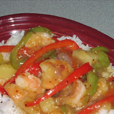 Sweet and Sour Stir-Fried Shrimp