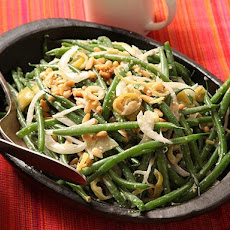 Green Bean Salad with Pickled Peppers and Anchovy Dressing