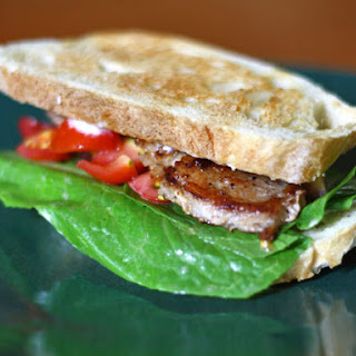Pork Belly BLT with Cherry Tomatoes