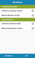 Screenshot of Mensa Erfurt