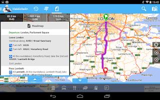 Screenshot of ViaMichelin: Route GPS Traffic