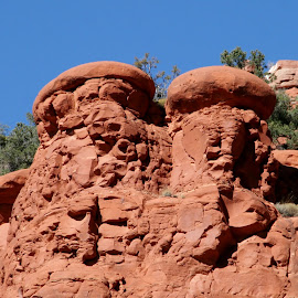 red rock country by Debbie Theobald - Nature Up Close Rock & Stone ( red, unedited, sedona, natural, rocks,  )