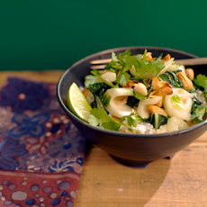 Coconut Jasmine Rice with Bok Choy, Cashews, and Golden Raisins