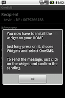 Screenshot of One SMS