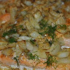 Baked Orange Salmon with Fennel