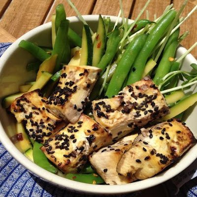 Make-Ahead Spicy Green Bean Salad with Sesame-Lime Tofu