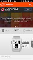 Screenshot of Pebble