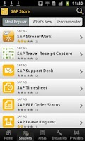 Screenshot of SAP Store