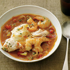 Cod-and-Shrimp Stoup with Salt-and-Vinegar Mashed Potatoes