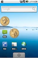 Screenshot of US $1 Coin Flip Widget