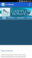 Screenshot of Cash Flow Real Estate