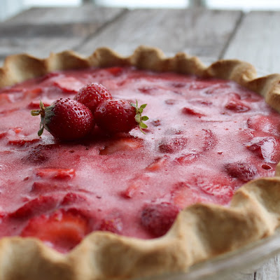 Summer Strawberry Pie with Shortbread Crust
