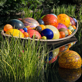 Chihuly at the Denver Botanic Gardens by Heather Diamond Ryan - Artistic Objects Glass ( water, glass art, sculpture, chihuly, glass, boat )