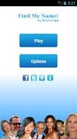 Screenshot of Find My Name - Celebrity Quiz