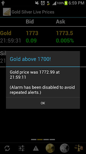 Gold Silver Prices License Key - screenshot