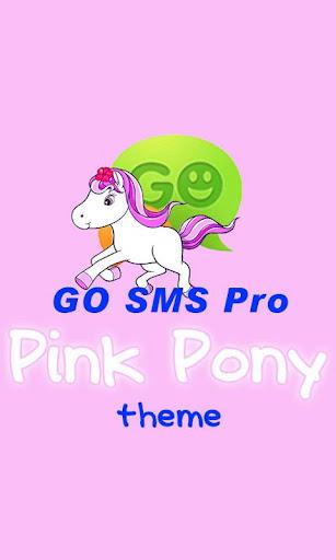 GO SMS Pro Pink Pony theme