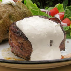 Bacon-Wrapped Filet Mignon With Horseradish Sauce