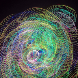 Slinky by Jim Barton - Abstract Patterns ( slinky, lasrt design, laser light, colorful, light design, laser, light, science )