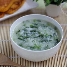 Pork And Spinach Congee