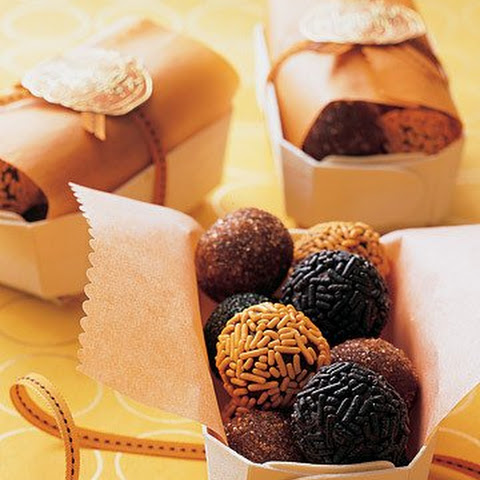 Black and Orange Take-Away Truffles