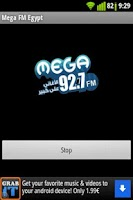 Screenshot of Mega FM 92.7