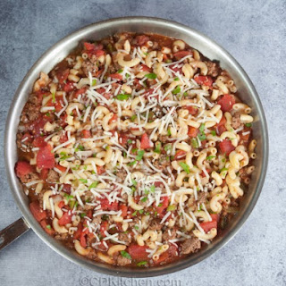 Cafeteria Mexican Macaroni Skillet Casserole