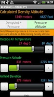 Screenshot of BB Density Altitude Calculator