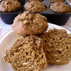 Healthy Pumpkin Banana Muffins