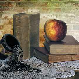 Still life with apple by Rucsandra Calin - Artistic Objects Still Life ( still life, artistic objects )