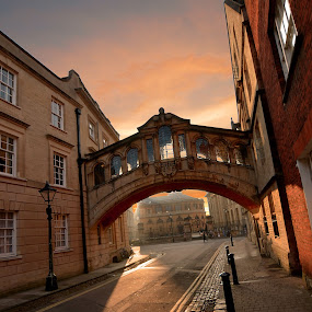 Old town Oxford by Dorota Grolewska - Buildings & Architecture Public & Historical ( oxford old town sunrise bridge )