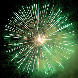 Supernova by Antonio Amen - Abstract Fire & Fireworks ( firework, green, star, supernova )